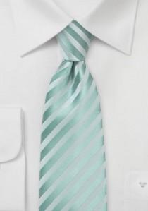 Mintgrüne Krawatte mit feinen, abgestuften Linien