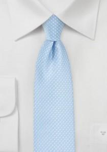 Krawatte zarte Punkte himmelblau