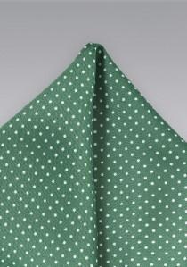 Ziertuch tannengrün Punkte