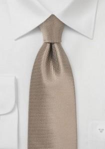 Krawatte Gitter-Struktur sandfarben