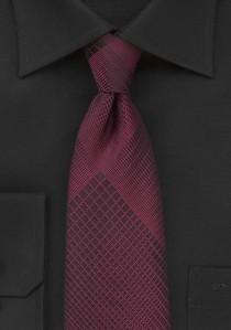 Krawatte geometrisches Dekor bordeaux