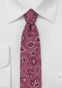 Krawatte Wolle Tropfen mittelrot