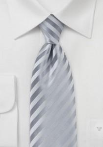Granada Mikrofaser Krawatte in festlichem Silber