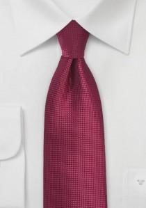 Krawatte einfarbig dunkelrot strukturiert