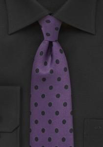 Krawatte grob gepunktet violett tintenschwarz