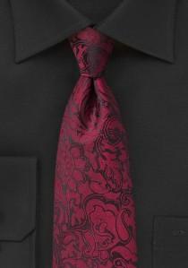 Modische Krawatte im Paisley-Design rot
