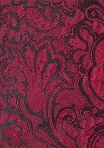Modische Kravatte im Paisley-Design mittelrot
