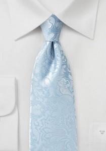 Markante Krawatte im Paisley-Look hellblau