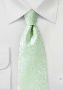 Markante Krawatte im Paisley-Look blassgrün