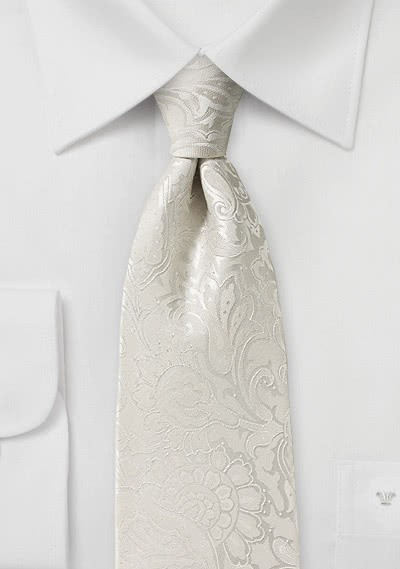 Markante Krawatte im Paisley-Look elfenbein