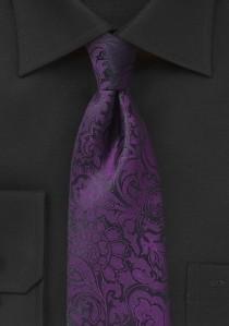 Markante Krawatte im Paisley-Look violett