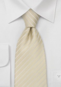 Gestreifte Krawatte sandfarben weiß