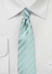 Mintgrüne Krawatte mit Streifenstruktur