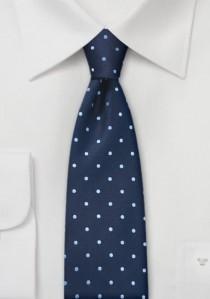 Schmale Businesskrawatte marineblau hellblau