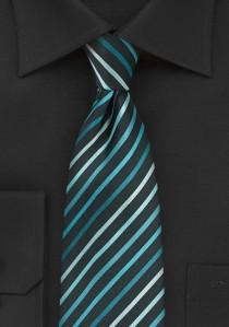 Krawatte Paisleys braun und königsblau