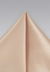 Einstecktuch Poly-Faser beige