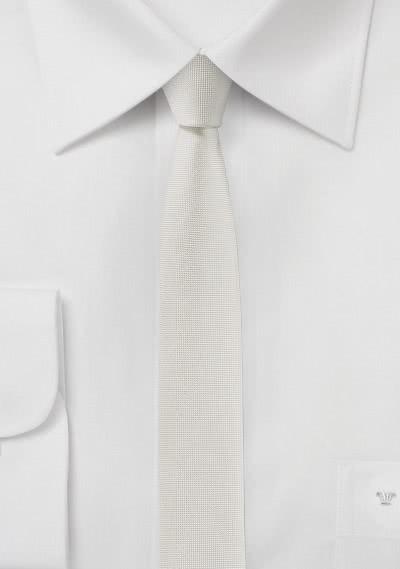 Krawatte extra schlank altweiß
