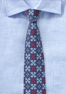 Himmelblaue Krawatte mit Talavera-Design