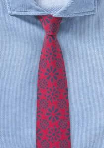 Baumwoll-Krawatte mit blumigem Pattern