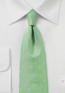 Krawatte blassgrün Pünktchen