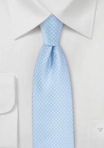Krawatte hellblau getupft