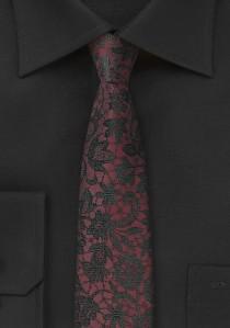 Krawatte Mosaik-Design dunkelrot