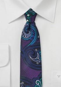 Kravatte Paisley purpur
