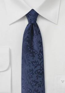 Krawatte Rankenmuster navyblau