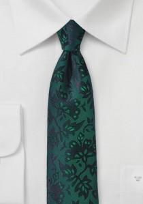 Krawatte Rankenmuster flaschengrün
