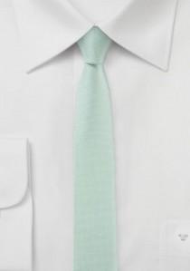 Krawatte extra schmal geformt blasstürkis