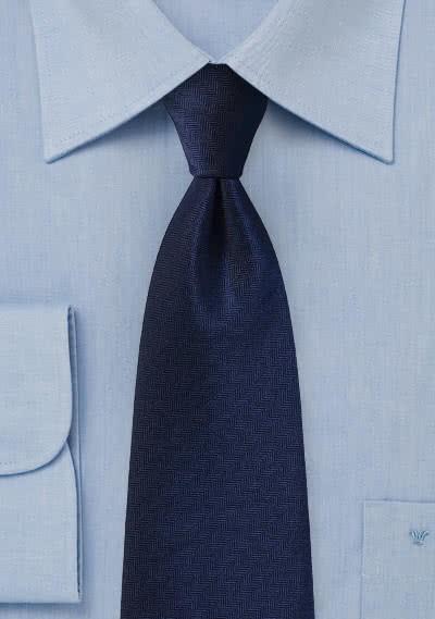 Krawatte Fischgräten nachtblau
