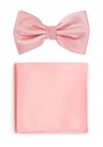 Schleife und Einstecktuch in rosa