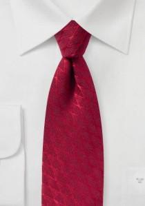 Kravatte Wellen-Rauten rot mit Wolle