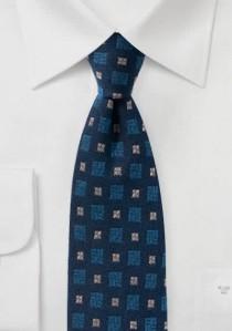 Tuchschal groß Ornamenturen navyblau