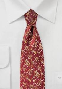 Krawatte abstraktes Dekor dunkelrot goldgelb