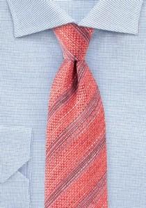 Struktur-Krawatte Streifen koralle pink