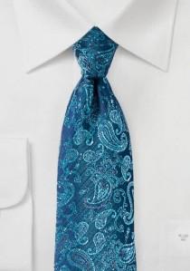 Krawatte Paisleymotiv navy cyan