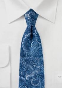 Verspielte Paisleymotiv-Krawatte königsblau