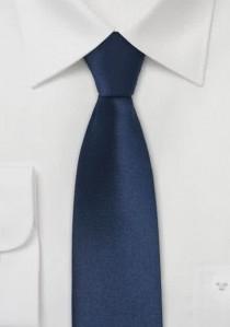 Dunkelblaue schmale Krawatte