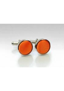 Manschettenknöpfe Stoff orange