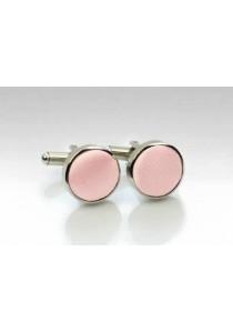 Manschetten-Knöpfe Stoff rosa