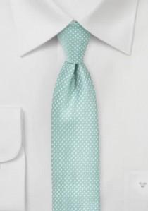 Krawatte schmal geformt mint tupfengemustert